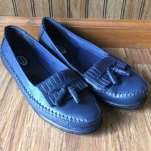 Blue Dr. Scholl's Loafers with Tassels